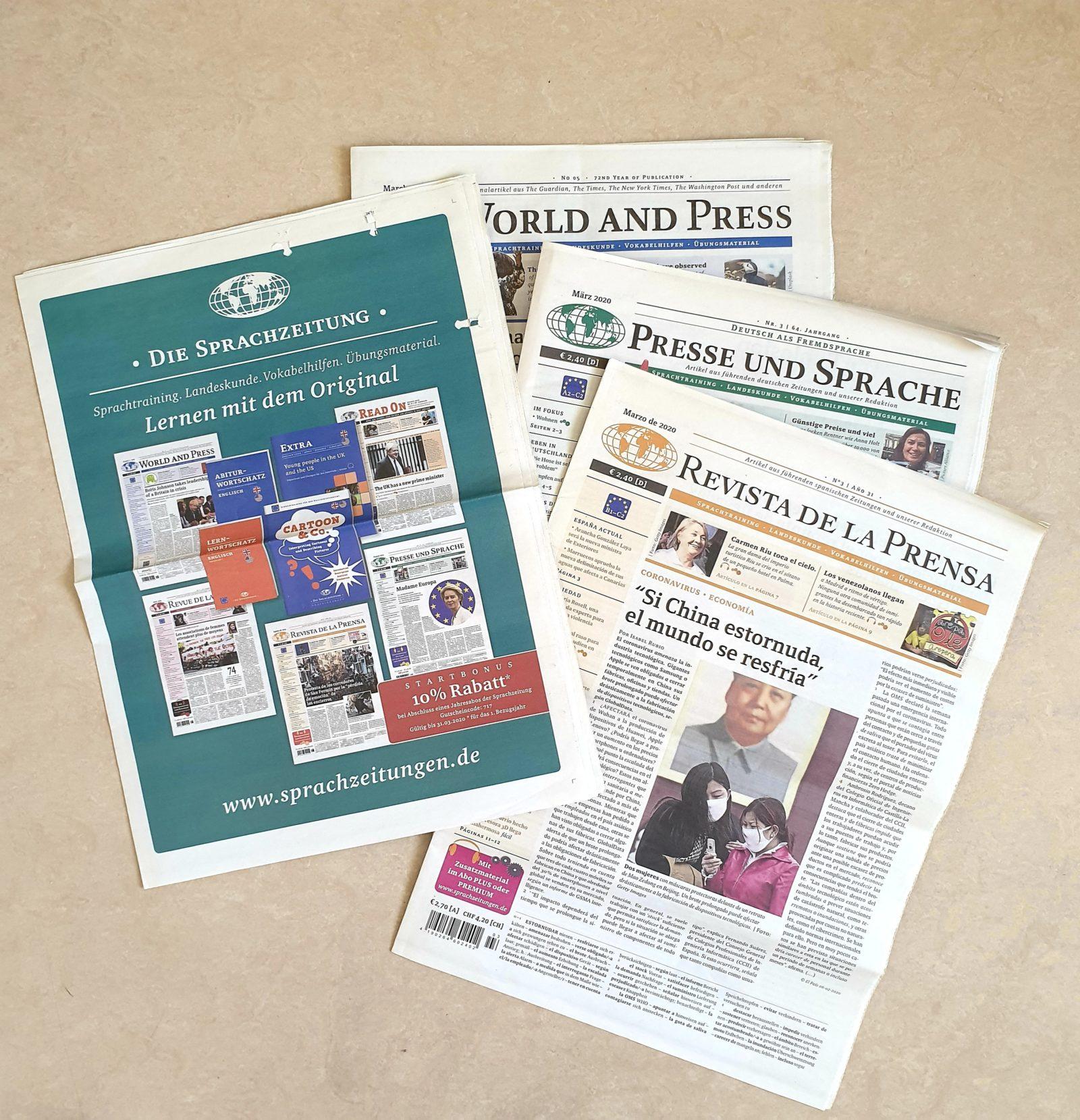 World and Press die Sprachzeitung wonderlanguages